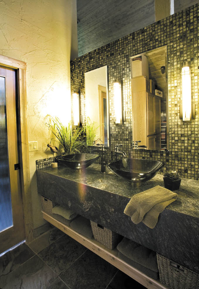 Small Bathroom High Ceiling alaska home | architecture & design | bathrooms | high ceilings