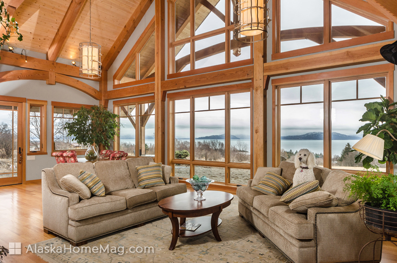 A Homer couple's custom timber frame reflects the beauty of Alaska and lets  the outdoors shine in