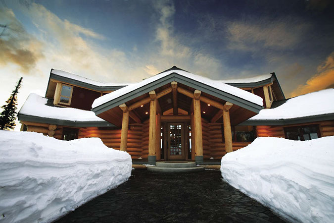 Alaska home home features log home luxury for Luxury homes in alaska