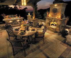 The Tuscany Outdoor Fireplace from Unilock