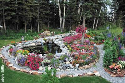 Marvelous Flower Gardens With Rocks Pictures   Best Ideas Interior .